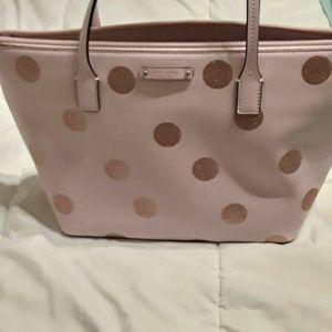 Light pink glitter polka dot Kate Spade purse